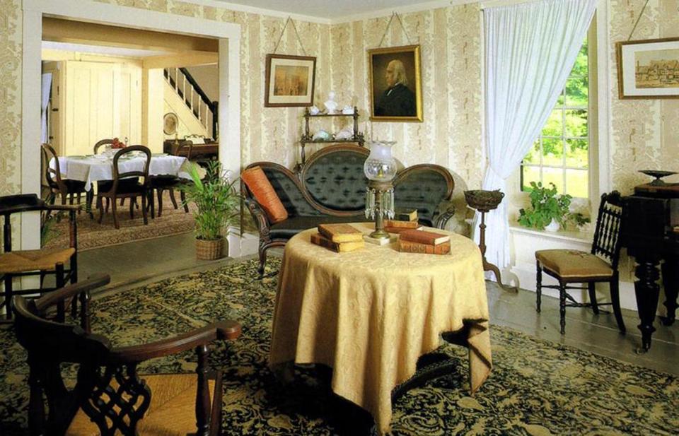 10 Stunning Writers' Homes, blog post by Aspasia S. Bissas, aspasiasbissas.com. . Louisa May Alcott, Orchard House, Little Women, Concord, Massachusetts