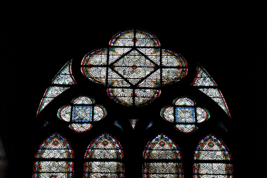 Stained glass, Notre Dame, Paris