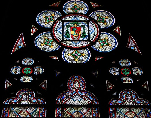 Stained glass window, Notre Dame, Paris
