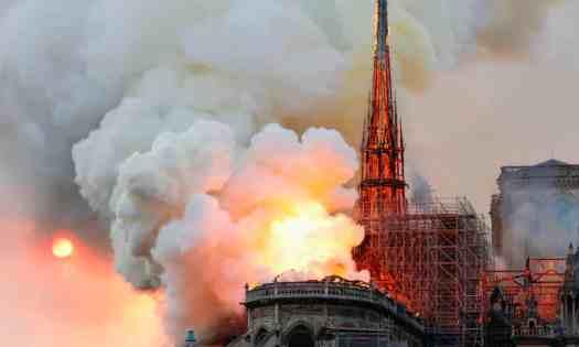Notre Dame Cathedral devastation