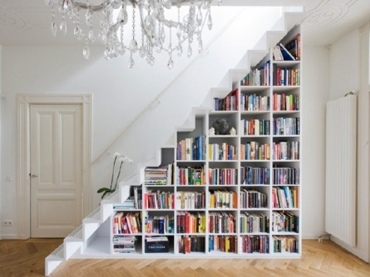 books under the stairs 2