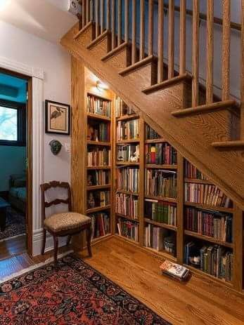 books under the stairs 4