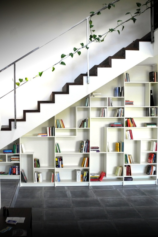 books under the stairs 7