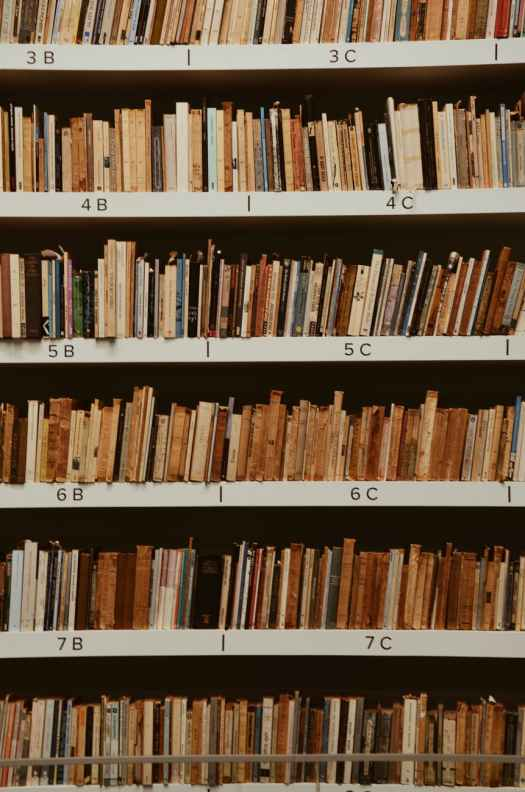 books file on shelf