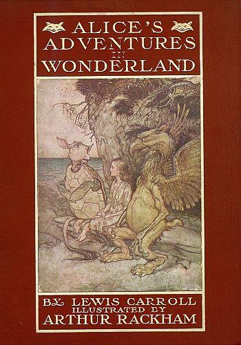 alice's adventures in wonderland, lewis carroll, arthur rackham, aspasia s. bissas