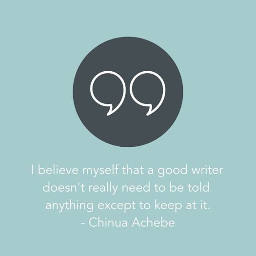 chinua achebe writing quote, aspasia s. bissas