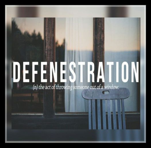 defenestration, beautiful words, aspasia s. bissas