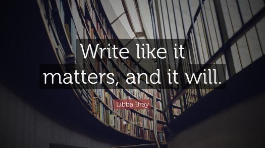 libba bray writing quote, aspasia s. bissas