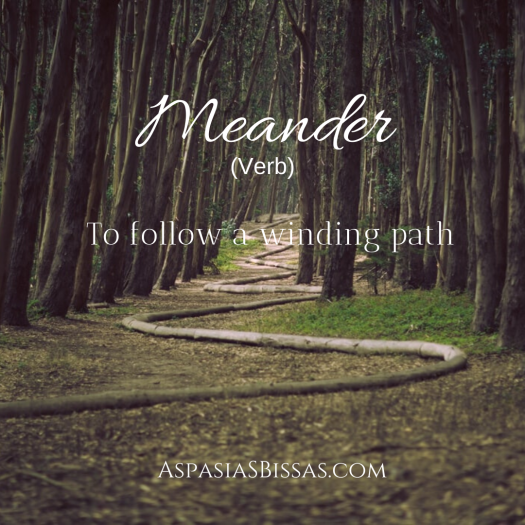 10 beautiful words, meander, aspasia s. bissas