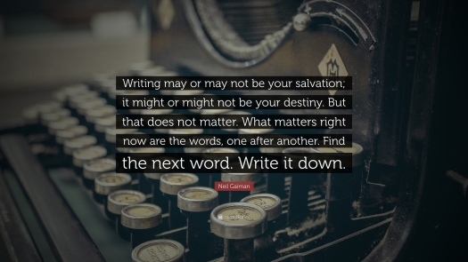 neil gaiman writing quote, aspasia s. bissas