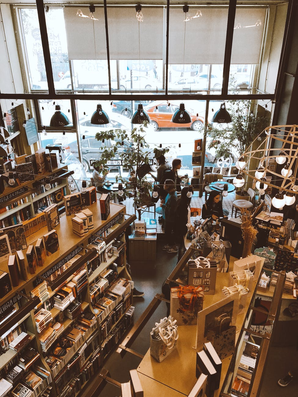 people inside bookstore