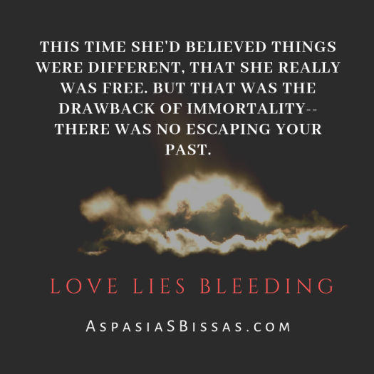 Love Lies Bleeding vampire book quote by Aspasia S. Bissas