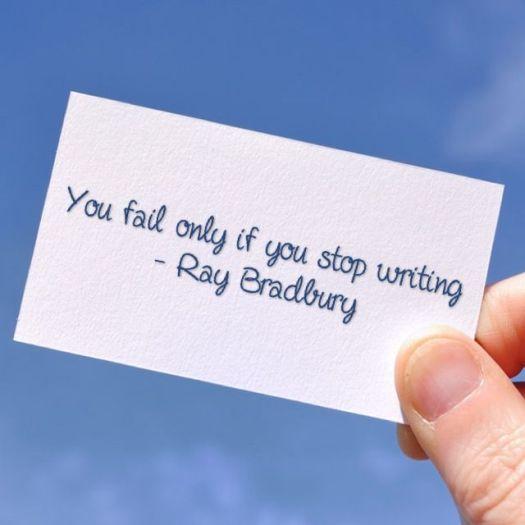 ray bradbury writing quote, aspasia s. bissas