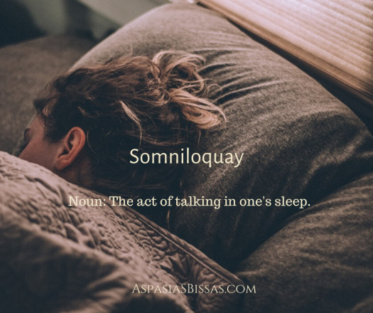 somniloquay, somniloquism, sleep talking, aspasia s. bissas