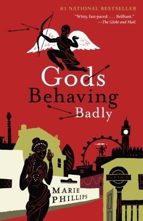 Currently Reading, blog post by Aspasia S. Bissas. Gods Behaving Badly by Marie Phillips. Greek Gods, Greek mythology.