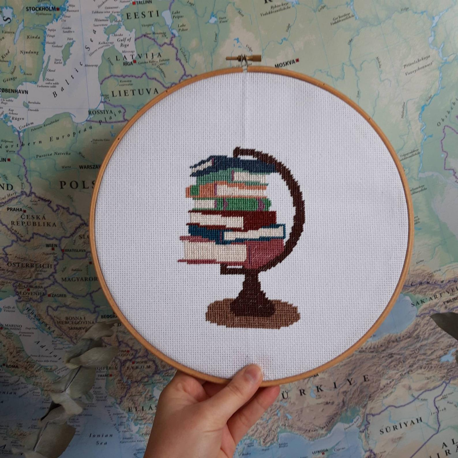 More Awesome Literary Embroidery, blog post by Aspasia S. Bissas, needlepoint, embroidery, cross-stitch, cross stitch, crossstitch, patterns, free patterns, books, reading, bookish, literary, aspasiasbissas.com, books are my world, etsy, pattern download