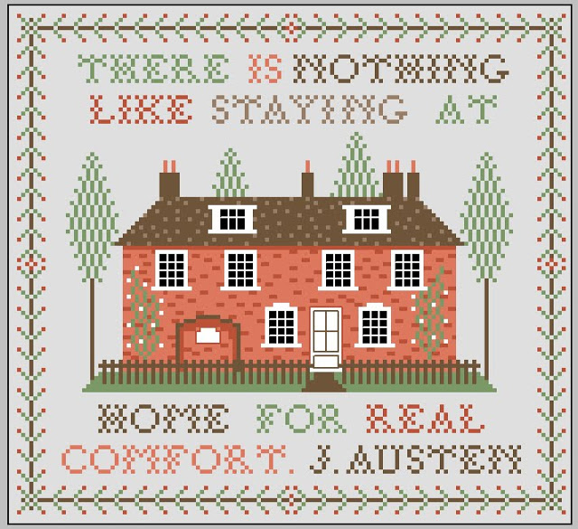 More Awesome Literary Embroidery, blog post by Aspasia S. Bissas, needlepoint, embroidery, cross-stitch, cross stitch, crossstitch, patterns, free patterns, books, reading, bookish, literary, aspasiasbissas.com, jane austen, quote, quotes, home