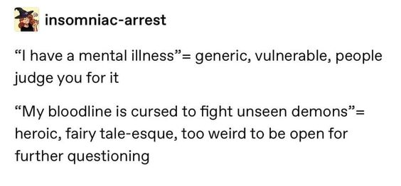 mental illness, meme, funny, my bloodline is cursed, extra, aspasiasbissas.com
