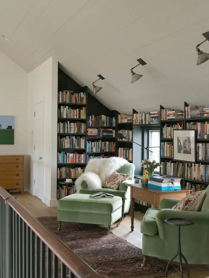 10 Inspiring Library Attics, blog post by Aspasia S. Bissas, books, book collection, decorating, decor, home, home library, attic, attic reno, attic design, aspasiasbissas.com