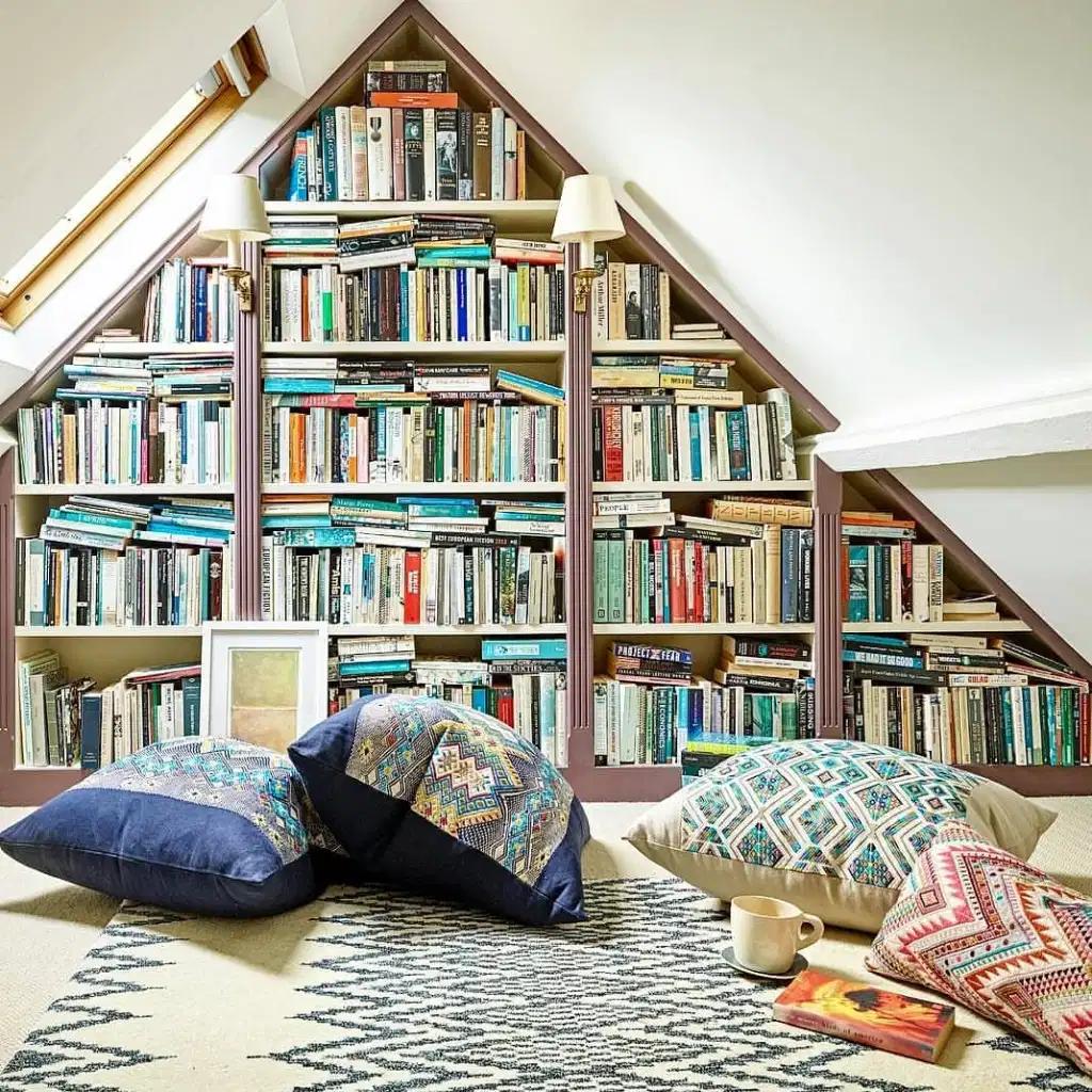 10 Inspiring Library Attics, blog post by Aspasia S. Bissas, books, book collection, decorating, decor, home, home library, attic, attic reno, attic design, aspasiasbissas.com