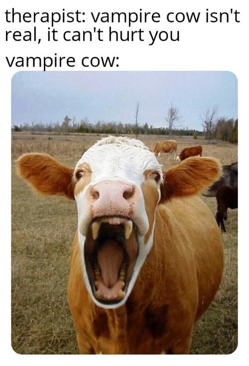Happy World Goth Day, blog post by Aspasia S. Bissas, aspasiasbissas.com, goth, gothic, vampire, vampires, vampire cow, vampire cow meme