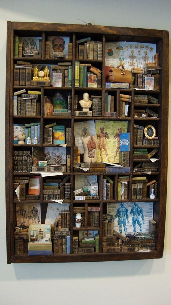 Books in Miniature, blog post by Aspasia S. Bissas, aspasiasbissas.com. Books, mini books, miniatures, dollhouse, dollhouse furniture, mini rooms, 1:12 scale
